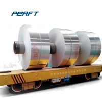 30 ton electric battery operated four wheel Coil Transfer Trolley for aluminium steel coils transportation