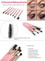 professional new 7pcs Makeup Brushes Tool Blending eyeshadow Blush eyelashes cosmetics makeup