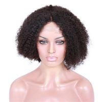 Premier Best Selling Indian Remy Short Afro Kinky Human Hair Wig For Black Women