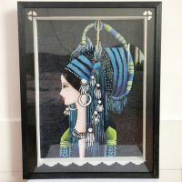 Pure handmade finished cross stitch embroidery of fashion gift