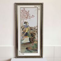Home decor china style framed cross stitch embroidery of woman