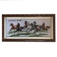 Home decoration handmade emboridery cross stitch of lucky horse