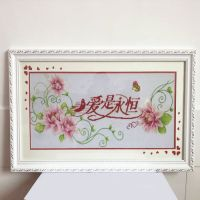 Framed handwork Completed finished china cross stitch of wedding gift