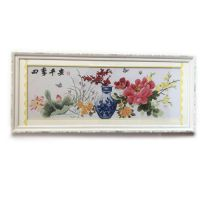 Real handmade framed china cross stitch of safeness