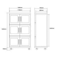 1483L anti static ESD dry cabinet ultra low humidity 5-60%RH