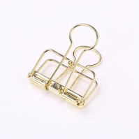 51mm metallic gold metal wire binder clip
