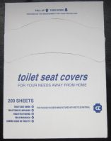 Paper toilet seat cover