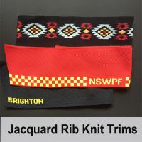 Flat trimmings jacquard rib knit trims for collar and cuffs