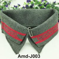 Jacquard rib knit trims flat collar and cuffs for making garments