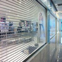 100% transparent polycarbonate rolling shutter door