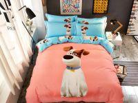 00 Cotton girls kids Grinding King Queen Size thick duvet cover Dog Lovely Pink Blue Bedding Set/Bedclothes Bed Flat Sheet set