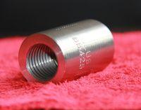 50mm Length 30mm external diameter rib stripped and rolled straight threaded rebar coupler