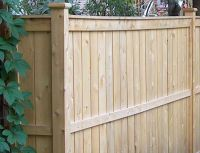 Canadian cedar fence components