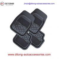 4pcs Set Black Practical PVC Car Floor Mats
