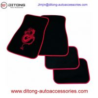 4pcs Set Luxury Dargon Pattern Carpet Material Car Floor Mats