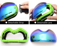 PROPRO Ski Goggles, Snowboard Goggles UV Protection, Snow Goggles Helmet Compatible for men women boys girls kids, Anti fog OTG