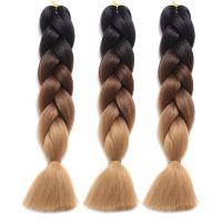 2018 Beautiful 2 Tone Color Synthetic Xpression Extension Hair for Girl
