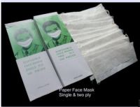 Hot Sale Disposable Paper Face Mask/1 Ply  /2 Ply Paper Face Mask/Anti-Static Face Mask