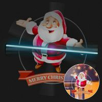 2019 Hot Trending 45cm LED 3D Fan Holographic Advertising Display