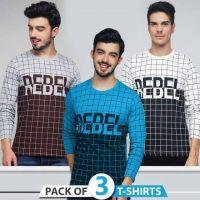 Bundle of 3 REBEL printed T shirts