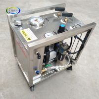 portable pneumatic hydraulic test booster station with round chart recorder