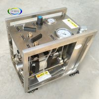 Air-driven high pressure booster pump for various gas liquid cylinder transfer and filling