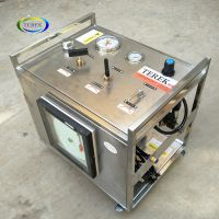 Portable air driven water pressure booster pump control cabinet for reagent injection
