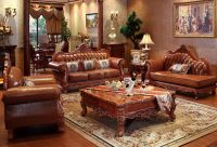 China Factory pure handmade carving wooden sofa furniture
