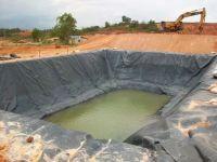 Waterproof Plastic HDPE Fish Farm Reinforced Pond Liner / Geomembrane