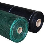 Black Plastic Fabric PP Ground Cover / Weed Control Mat