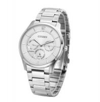 Branded Men's Silver Dial Stainless Steel Band Watch - AG8351-86A