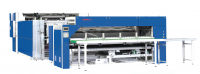 automatic bed linen folding and stacking machine with sorting function