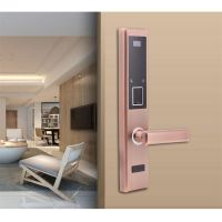 Four-in-One Keyless Fingerprint Password Card Key unlocking Door Lock for Apartment Resort School