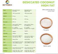 DRIED STYLE VIETNAM DESICCATED COCONUT FACTORY HIGH FAT 0084973521036