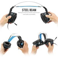 3.5mm Game Gaming Headphone Headset Earphone Headband with Microphone LED Light for Laptop Tablet Mobile PhonesMobile phones or PS4 XBOX ONE Nintendo Switch