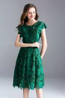 moozoi hollow out pure color sleeveless dress