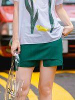 moozoi OL green show thin skirt
