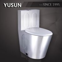 factory supply high quality 304 stainless steel toilet toilet bowl
