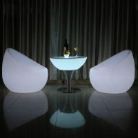 Modern design outdoor party garden illuminating color changing furniture garden sofa