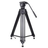 Kingjoy 3 section aluminum professional video camera tripod kits for bird watching