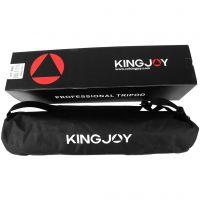 2019 Kingjoy new 4 section professional aluminum video camera tripod