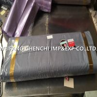 100% POLYESTER 90GSM 150cm dyed fabric packed by double fold