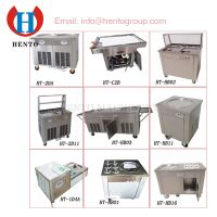 Many Model Ice Cream Roll Machine With 1 Pan Or 2 Pans