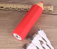 Multi Colors Pencil Style PVC Power Bank