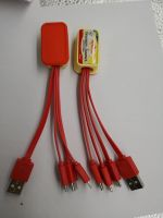 Multi Cell Phone Red Charging Cables