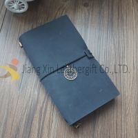Handmade Refillable leather notebook with Brass for Leather Gift