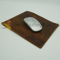 Genuine Leather Mouse Pad with Double Sided with stitching