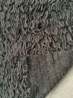 Ostrich fur immitation polyester plush weft knit fabric factory sale