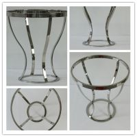 Best living room corner sofa side table round end table with metal frame