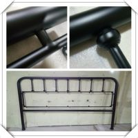 Modrn style Metal headboard with decorative ball for king or quen size bed for hotel project